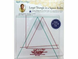 Quilt in a Day Larger Triangle in a Square Rulers $19.95