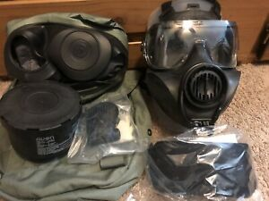 AVON FM53 M53 Gas Mask Size Small Right Hand With Hood amp; Filter $585.00