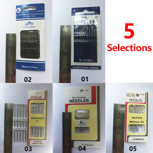 Multi Size Hand Sewing Needles Self Threading for Craft Darn Embroidery DIY US $2.99
