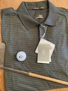 Tiger Woods Nike Dry Fit Golf Shirt Large New $25.00