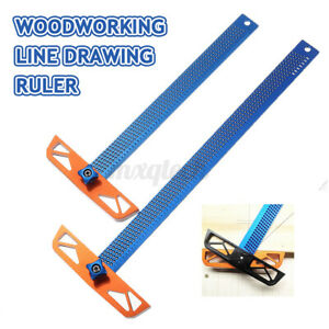 300 400mm Hole Positioning Inch Angle T ruler Woodworking Marking Crosse $32.39