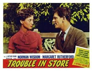 Trouble In Store Lobby Card Moira Lister Norman Wisdom OLD MOVIE PHOTO AU $8.50