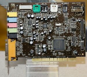 Vintage Creative Labs Sound Blaster Live CT4780 PCI Sound card $12.00