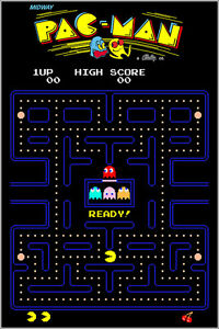 Pac Man Authentic Arcade Marquee 24x36 Namco Video Game Giclee Artwork Poster $24.99