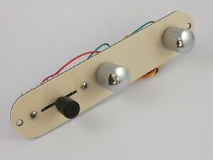 Fully Loaded CREAM CONTROL PLATE for Telecaster style guitar Switch Pots Knobs $18.05
