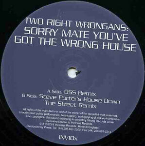 Two Right Wrongans Sorry Mate You#x27;ve Got the Wrong House vinyl 12 ID5628z GBP 13.88