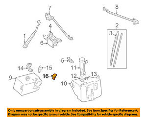 GM OEM Wiper Windshield Nozzle Right Hand Passenger Side new 22072439 $29.89