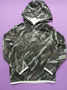 Under Armour Hoodie Boys Youth Small Camouflage Logo Long Sleeve Fleece Lined $17.99