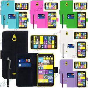 Case Cover Covers Folding Wallet Leather Multicolor Film Nokia Lumia 1320