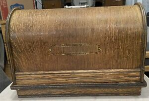 Antique Sewing Machine Wood Bentwood Cover Case Top Handle 19quot; L $69.99