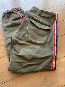 Nili Lotan Green French Military Cotton Twill Pants Size 6 Pre Owned $99.00