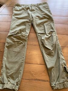 Nili Lotan Green French Military Cotton Twill Pants Size 6 Pre Owned $79.00