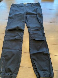 Nili Lotan Black French Military Cotton Twill Pants Size 6 Pre Owned $99.00