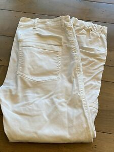 Nili Lotan White French Military Cotton Twill Pants Size 6 Pre Owned $79.00