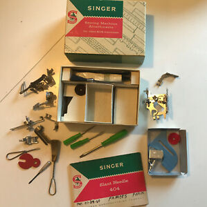 Vintage Singer Sewing Machine Attachments for class 404 machines Manual $29.95