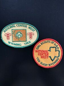 2 Vintage Girl Scouts National Center West Wyoming Trek and Ten Sleep Patches $48.00
