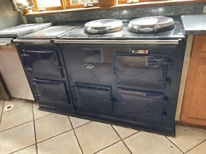 Aga Deluxe Model Direct Vent Range 4 Oven Cooker Stove in Cobalt Blue