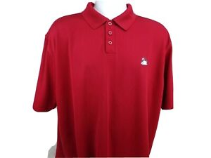 Under Armour Golf Polo Shirt Size XL Red Stretch Embroidered $19.99