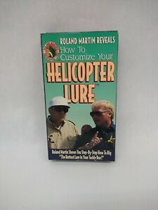 Roland Martin How To Customize Your Helicopter Lure VHS Tape New 1994 Vintage
