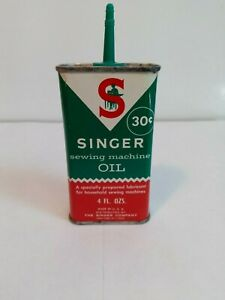Singer Sewing Machine Oil Can Vintage 1960#x27;s Very Good Condition. Colorful. $18.95
