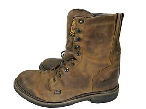Justin work boots WK960. Size 10.5 D. Very Used Condition. As Is. Worn