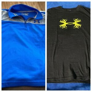 Lot Of 2 Boys Under Armour Shirts Size YMD $23.99
