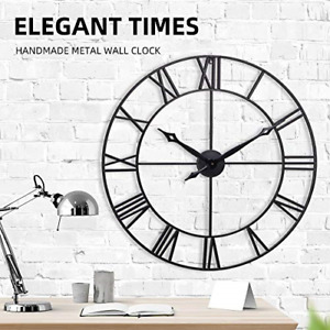 INFINITY TIME Large Wall Clock 30Inch European Retro Vintage Clock with Roman $101.45