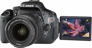 Canon EOS Rebel T3i DSLR Camera with EF S 18 55mm Lens 5169B107 18MP FHD Black $249.99