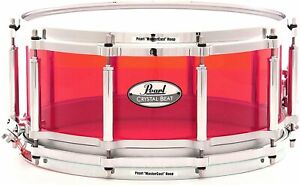 Pearl Crystal Beat 14quot;X6.5quot; Free Floating Snare Drum Ruby Red $593.00