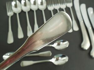SSS Oneida stainless steel Minute Man Colonial Boston lot of 17 pc forks spoons