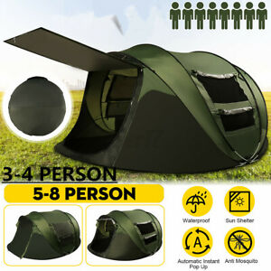 3 4Person Tent Family Outdoor Portable Waterproof Camping Shelter Cabin Dome