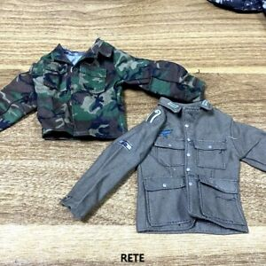 2x 1 6 WW2 German Soldier Jacket Tops amp; Jungle Camouflage Shirts For 12#x27;#x27; Figure