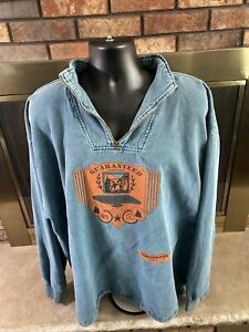 Vintage By Taylor American Original North woods Cotton Sweater Mens 2XL Teal $29.95