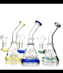 7� Best new Tobacco Hookah water bong pipe glass 14m bowl hand bubbler pipes $19.95