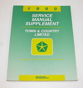 1999 Chrysler Town Country Limited Service Manual Supplement GOOD USED COND $10.95