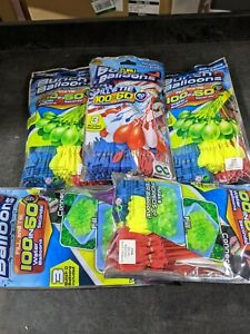 Lot 5 Packages Of 100 Water Balloons 500 Total bunch o balloons mixed colors.