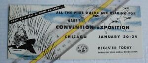 DUCK HUNTING National Assn of Home Builders NAHB Convention Chicago Ink Blotter