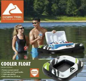 **NEW**Ozark Trail Inflatable 24 48qt Cooler Float with Handles amp; Cup Holders