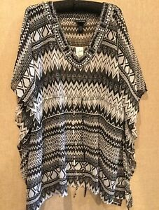 WOMEN#x27;S LANE BRYANT SWIMSUIT COVER UP BEACH DRESS COVERUP EMBELLISHED 14 20