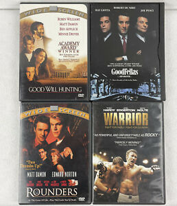 DVD Movie Lot of 4 Goodfellas Good Will Hunting Warrior Rounders