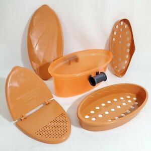 Pasta N More 5 in 1 Easy Microwave Pasta Cooker Copper As Seen On TV NEW