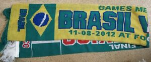Brasil Mexico Men#x27;s Final 11 08 2012 World Cup Scarf. Used. PA469