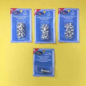 3 New Sealed Packages Prym Sewing Large Eyelets 1 4quot; 6mm Zinc 15 Ea Pk Tool $9.99