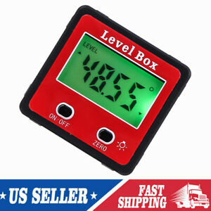 360° Magnetic Digital LCD Inclinometer Level Box Gauge Angle Meter Protractor US $14.99