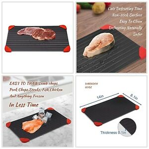 Fast Defrosting Tray Rapid Thawing Board Safe Defrost Meat Frozen Food Plate US