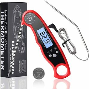 Meat Thermometer For Grill BBQ food Cooking Instant Digital Lcd Dual Probe