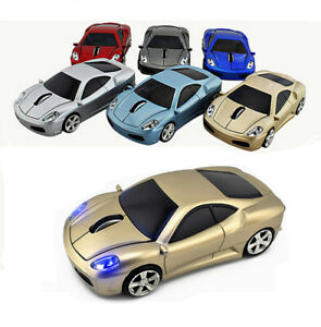 USB 2.4Ghz Wireless Computer Mouse Car Gaming Mice Optical LED for Laptop PC MAC