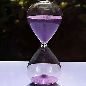 Large Fashion Colorful Sand Glass Sandglass Hourglass Timer Clear Smooth Glas... $35.76