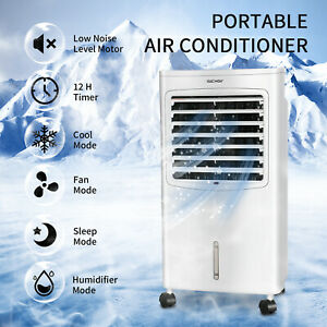 8L Air Cooling Fan Portable Air Conditioner Cooler Evaporative Water Humidifier $28.99