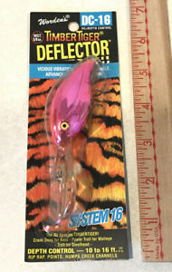 WORDEN#x27;S TIMBER TIGER DEFLECTOR PINK PANTHER DC 16 FISHING BASS RATTLE LURE USA